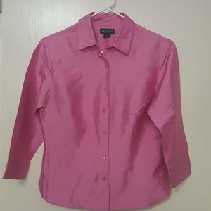 Adorable pink silk top by Ann Taylor size 8